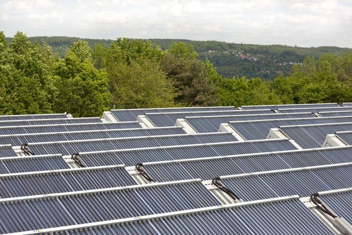 Solare Großanlage mit großer Kollektorfläche
