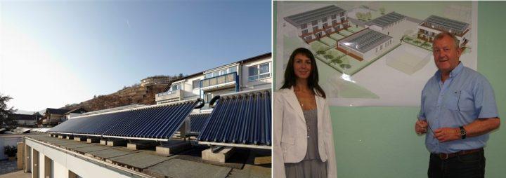 Solarwohnanlage Am Silberberg und die stolzen Erbauer Maike und Heiner Fuhs, HMF GmbH