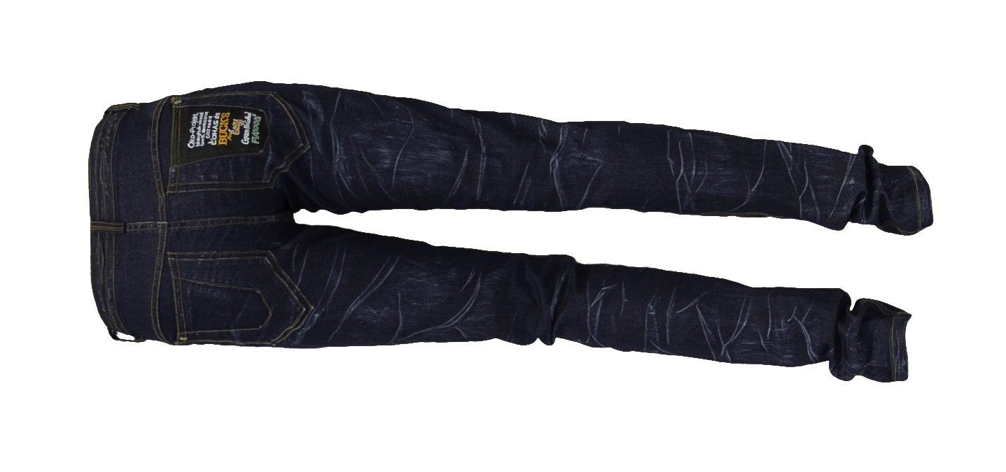 Bio-Jeans (blue) des Öko-Projekts Ha Nam - 100 % ökologisch veredelt: chemiefrei, abwasserfrei und CO2-neutral