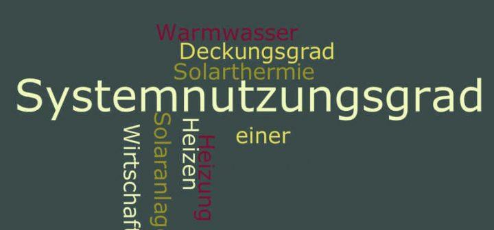 Systemnutzungsgrad einer Solaranlage
