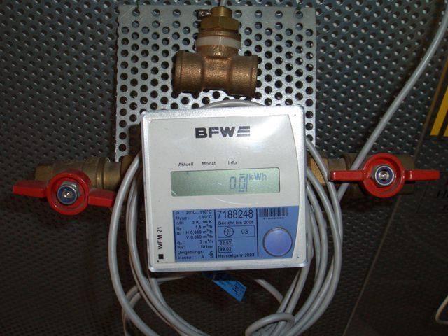 Elektrischer Wärmemengenzähler