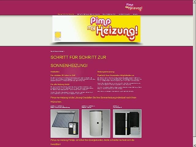 Schritt für Schritt zur Sonnenheizung: Startseite von www.pimp-my-heizung.com