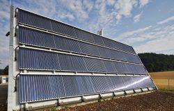 Solare Fernwärme, Röhrenkollektor