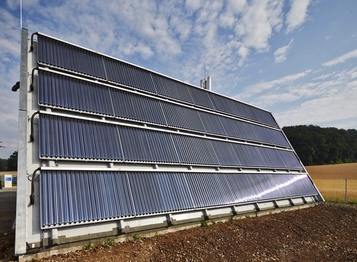 Bio-Energie-Dorf Büsingen: Solarthermie-Anlage. Foto: Ritter.