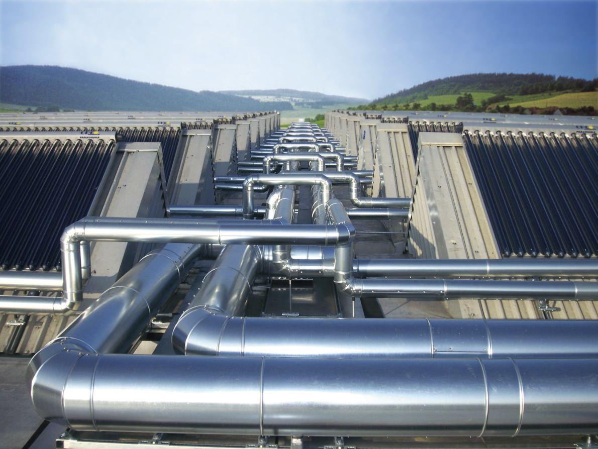 Festo AG Esslingen - Solarthermie-Anlage auf dem Dach. Foto: Ritter