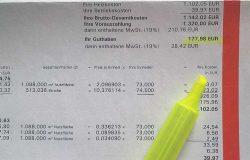 Heizkostenabrechnung Kosten und Guthaben
