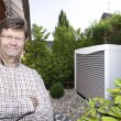 Luftwärmepumpe im Außenbereich