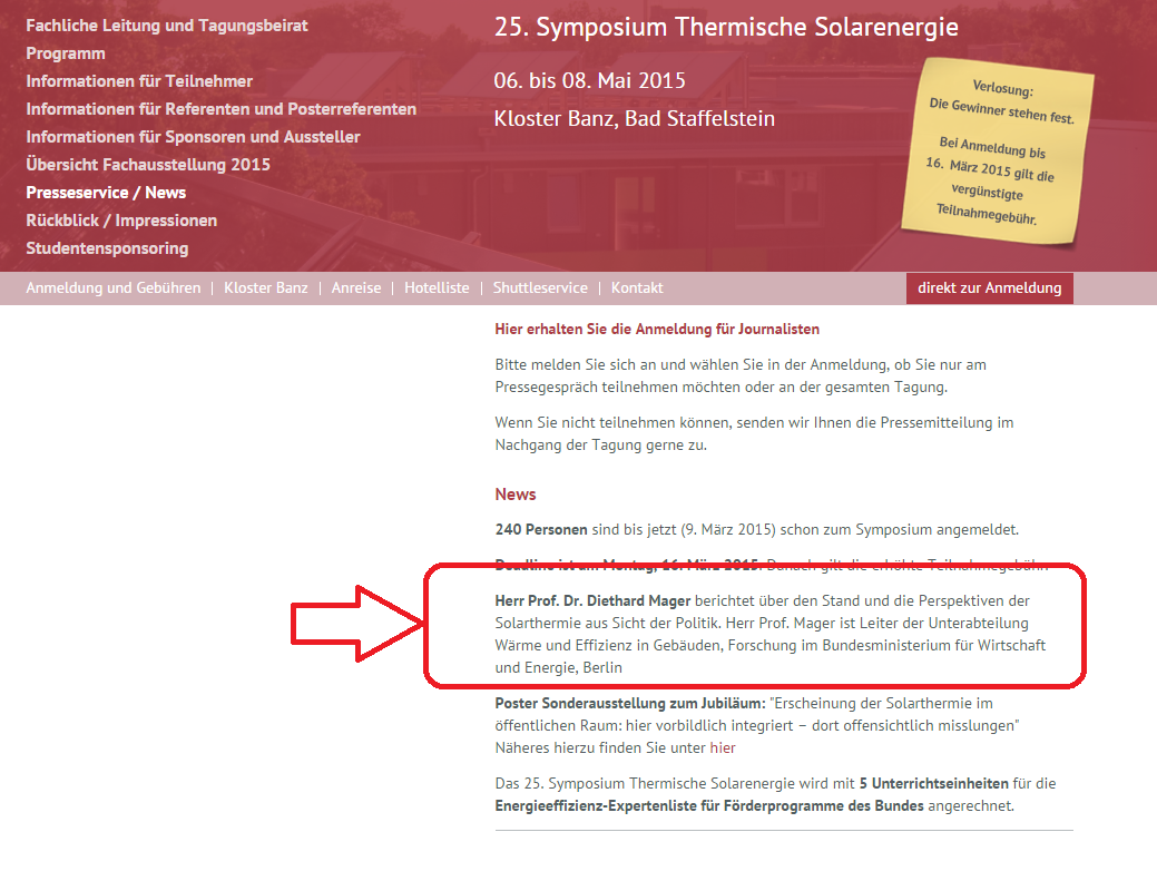 Symposium Solarthermische Energie