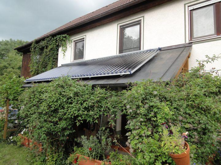 Solarthermie-Anlage auf Vordach Projekt Bleher