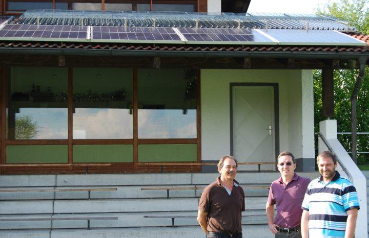 Solarthermie-Anlage auf Dach des TSV Pfaffenhausen