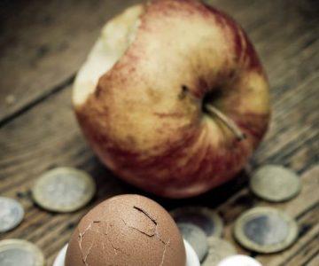 Apfel und Ei und Euro