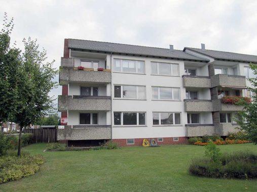 Das Mehrfamilienhaus in Celle - noch ohne die Solarthermie-Kollektoren. Foto: Elotherm