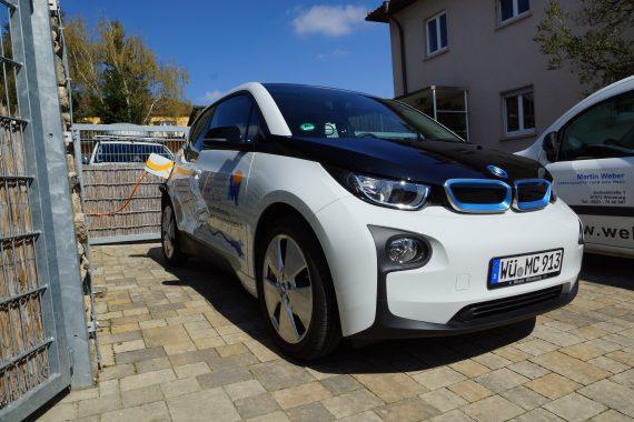 Das Elektro-Auto unseres Handwerkers des Monats Martin Weber aus Würzburg. Foto: Martin Weber.