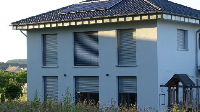 Solarthermie auf Energieeffizeinzhaus