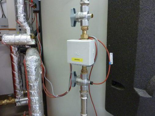 Die Wärmemenge, die die einzelnen Komponenten der Heizung des SEH liefern, wird mit Wärmemengenzählern gezählt. Foto: ReSYS AG