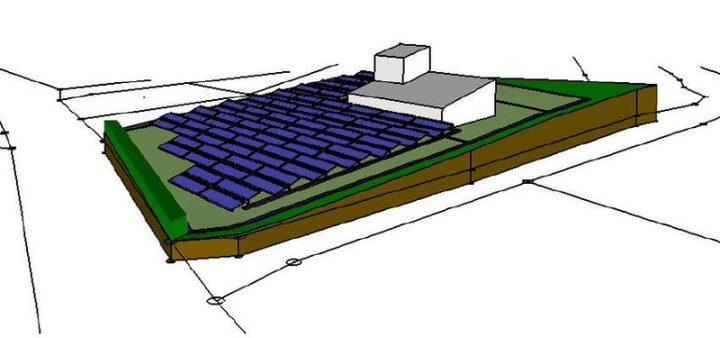 Grafik der Solarthermie-Anlage in Hallerndorf - Nahwärmenetz