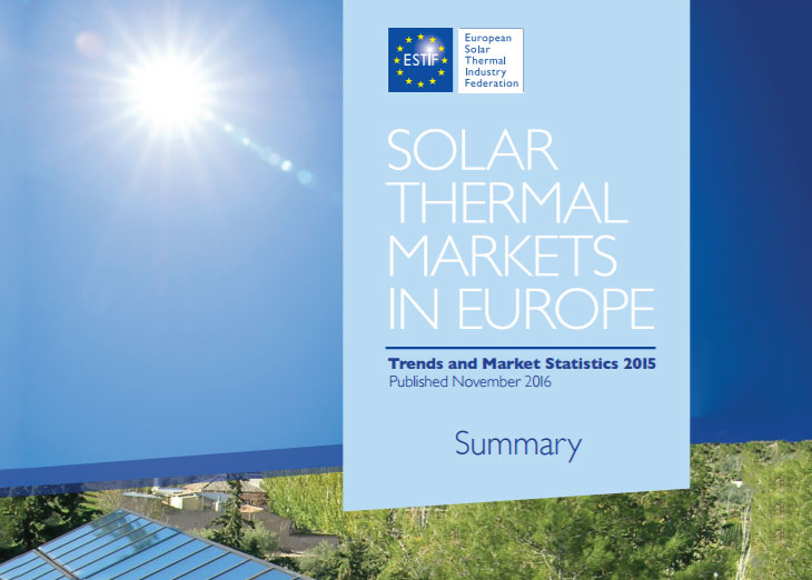 ESTIF: Trend and market statistics 2016: solar thermal europe