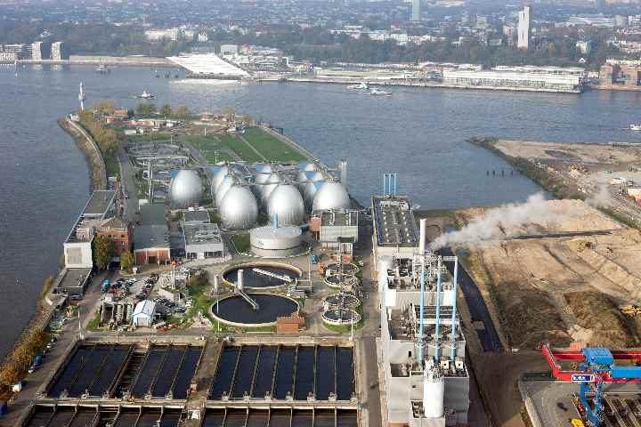 Fernwärme in Hamburg mit Klärwerk Hamburg Fernwärme-Netz