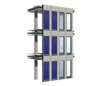 Fassadenkollektoren: Streifenkollektor und Solarthermie-Jalousie kommen