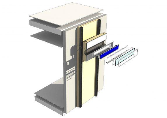 Schematischer Aufbau eines Kollektorstreifens. Grafik: ©Facade-Lab