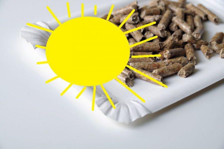 Holzpellets plus Sonnenheizung