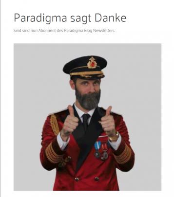 Daumen hoch - Anmeldung zum Paradigma-Blog-Newsletter