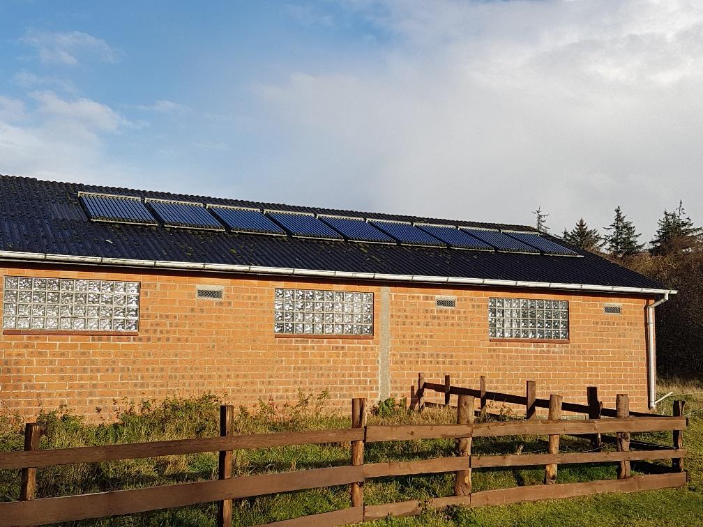 Solarthermie auf Bio-Bauernhof Hockmannshof in Humptrup