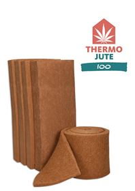Die Jute-Dämmmatten gibt's als Matten und als Meterware von der Rolle zu kaufen. Foto: Thermo Nature GmbH & Co. KG