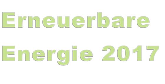 Erneuerbare Energie 2017