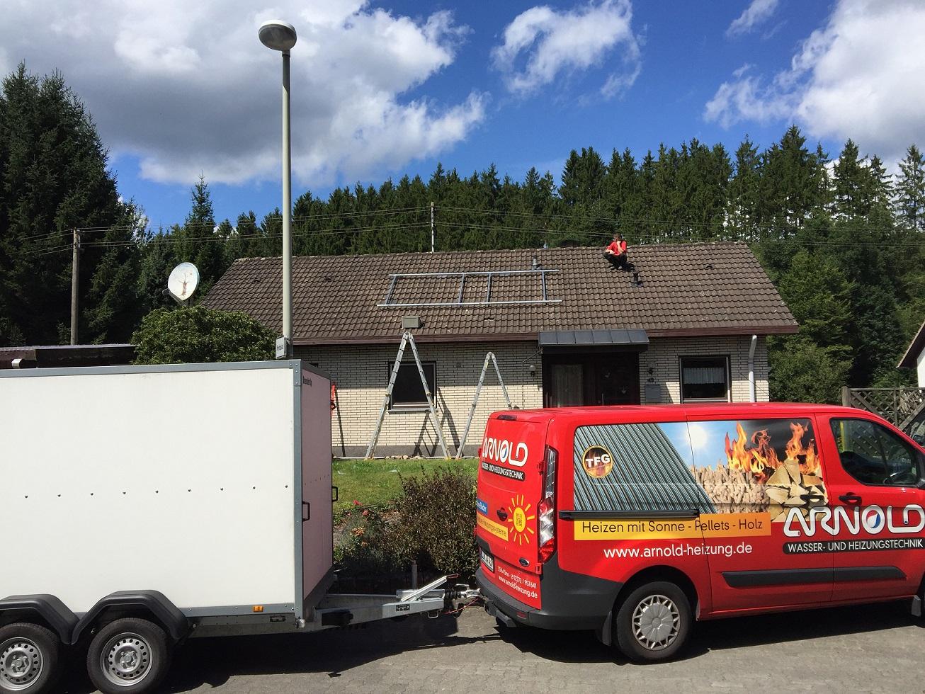 Das Lieblings-Solarthermie-Projekt unseres Handwerkers des Monats - eine komplette Heizungs-Modernisierung nklusive Installation einer Solarthermie-Anlage. Foto: Jean-Pierre Arnold GmbH & Co. KG