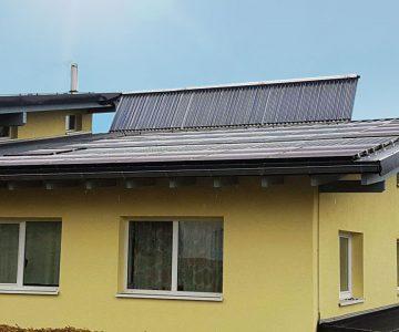 JungSolar Projekt des Monats Solarthermie auf Dach