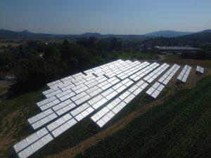 Randegg Solardorf Solarthermie-Anlage unter Schutzfolie Ritter XL Solar