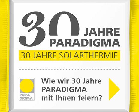 Aktion 30 Jahre Paradigma: Schokoloade und Sonnenwärme