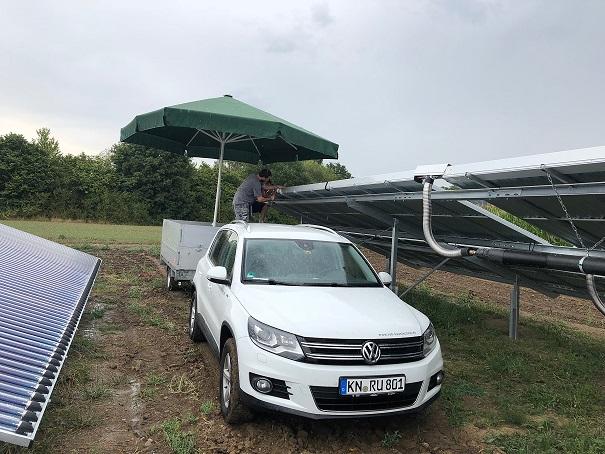 Großanlage Solarthermie Randegg Ruh Haustechnik & Co. KG 1. Projekt des Monats Oktober 2018