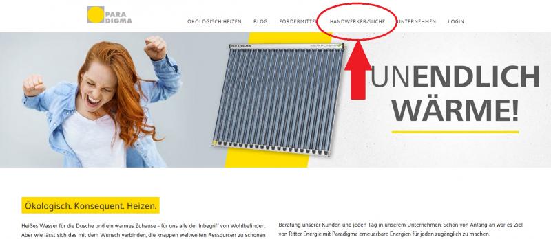 Handwerkersuche_Solarthermie_Paradigma_online_1