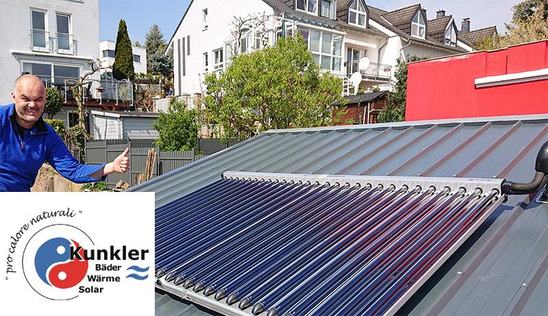 kunkler solarheizung kollektormontage