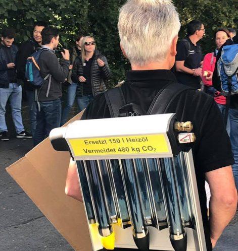 Klimastreik_Tübingen_Paradigma_Solarthermie_Kollektor-Streikbanner