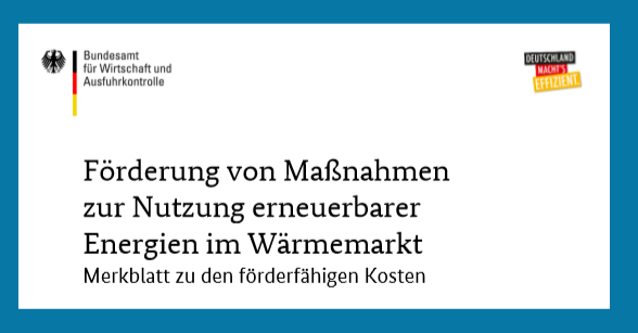 BAFA_Merkblatt foerderfaehige Kosten Heizen mit erneuerbaren Energien 2020