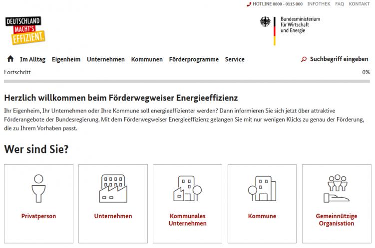 Förderwegweiser Energieeffizienz 1 Startseite