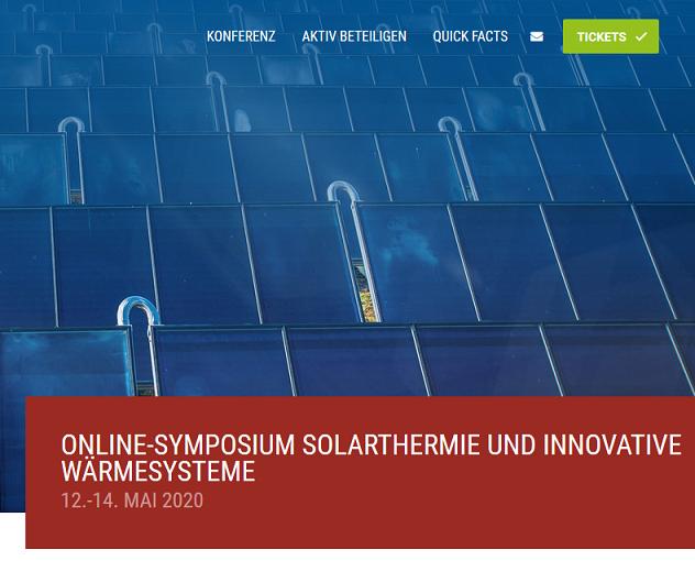 Online-Symposium Solarthermie 2020