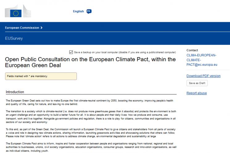 Klimapakt EU_Startseite_Fragebogen_zum_Ausfuellen