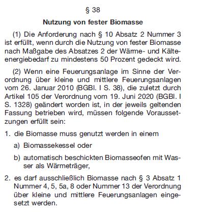 GEG_§38_Nutzung Biomasse-Anlagen