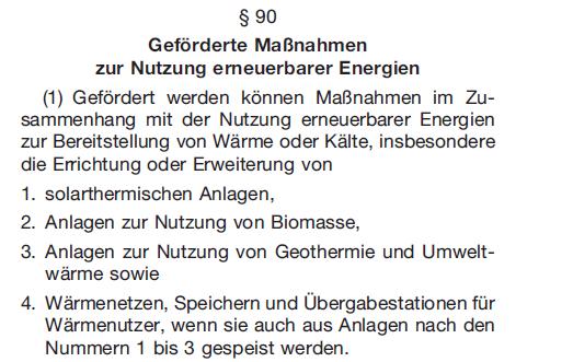 GEG_§90_Satz 1_Förderung Solarthermie-Anlagen