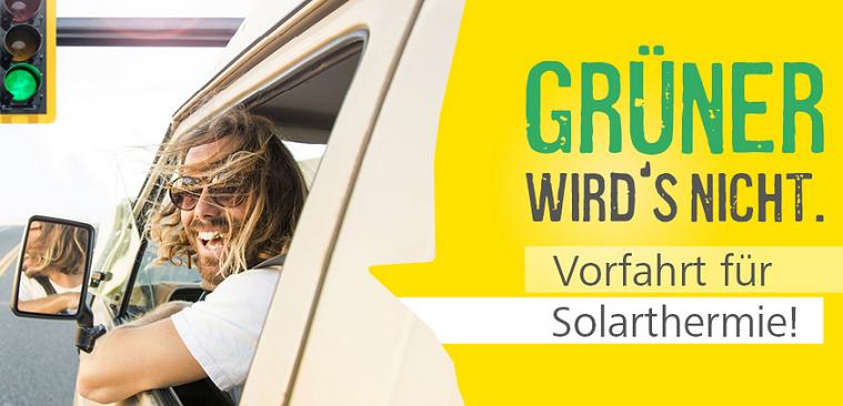 Aktion Wintersonne Grüner wirds nicht. Vorfahrt für Solarthermie!
