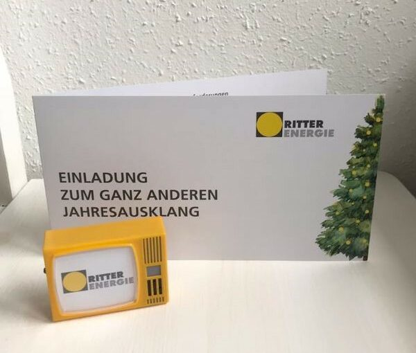 Ritter Energie virtueller Jahresausklang 2020 Online Weihnachtsfeier Einladung Klickfernseher