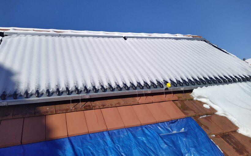 Solarthermie im Winter Solarthermie-Kollektoren unter Schnee