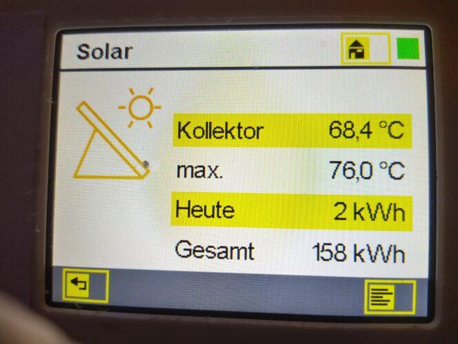 Solarthermie im Winter Leistungseintrag unter Schnee