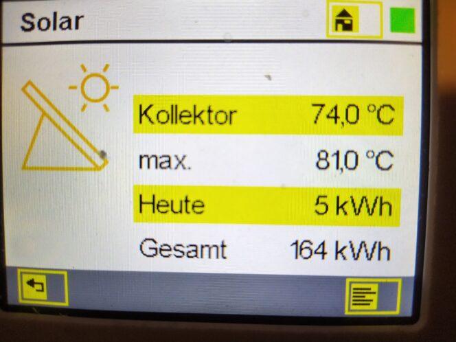 Solarthermie im Winter Solarthermie-Kollektoren unter Schnee Leistung 2