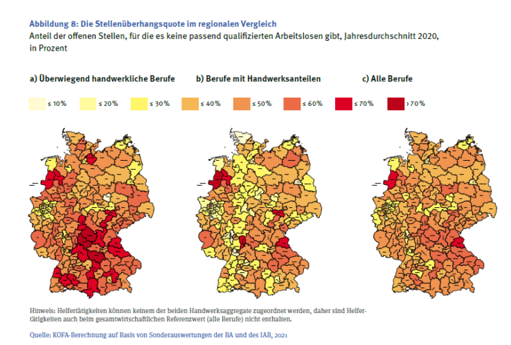 Handwerkermangel in Deutschland_regionaler Vergleich