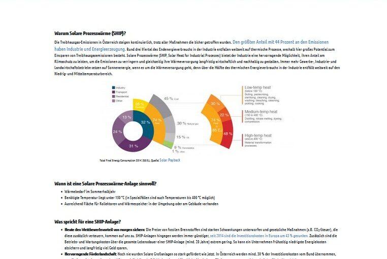 Neues Infoportal zu solarer Prozesswärme